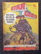 1978 Sept 16 STAR LORD IPC UK Weekly Comic - Mek-Quake VF