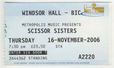 Ticket Scissor Sisters 16/11/2006 at Windsor