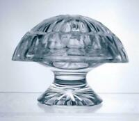 Fabulous Lead Crystal Cut Glass Lidded Trinket Pot Mushroom Shape Perfect Gift