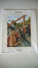 Print - Railway Cats (Footbridge) by Richard Piccaver (2001)