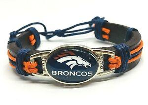 Denver Broncos Bracelet Football Pull String Adjustable Bracelet Free Ship