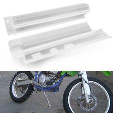 White Plastic Front Fork Slider Protector Guard for Kawasaki KDX200 KLX650 93-94