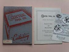 Vintage Machine Shop Tool Catalog No.55 - Center Tool Co.,NYC, 1960 - Rare