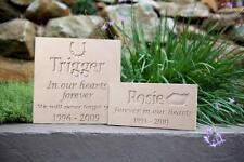 Pet Memorial Plaque -Natural Sandstone - Personalised - Made to Order
