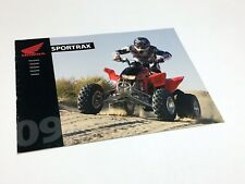 2009 Honda Sporttrax TRX 4 Wheel ATV Brochure