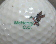 (1) MCHENRY COUNTRY CLUB GOLF COURSE LOGO GOLF BALL
