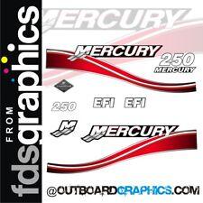 Mercury 250hp four stroke EFI outboard graphics/sticker kit