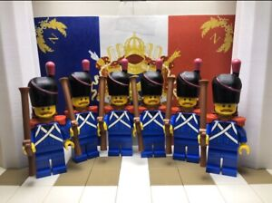 6x LEGO Corsican Carabiners with Bearskin, Muskets, Epaulettes & Backpacks