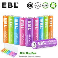 10Pcs Aa Rechargeable Batteries NiMh 2500mAh 1.2v For Garden Solar Light Rc Toys