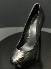 Brian AtWood Multi-Colored Snake Print Leather Women Platform Pumps Size 8.5 M