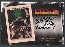 Vintage Movie Posters Sci-Fi & Horror 2 Autograph Card Sh-Bh Bill Hinzman Zombie