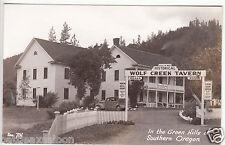 RPPC - Wolf Creek Tavern in the Green Hills of Southern Oregon - 1940s era