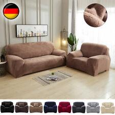 Universal Sofahusse Stretchhussen Sofabezug Plüsch Abdeckung Überwürfe 1-4Sitzer