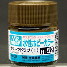 GSI CREOS GUNZE MR HOBBY AQUEOUS COLOR ACRYLIC H52 Olive Drab (1) PAINT 10ml NEW