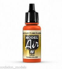 Vallejo Model Air Fluorescent Red 71.082 - 17ml Acrylic Airbrush Ready Paint