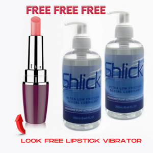 Shlick Sexual Lubricant x 2 Plus Free Lipstick Vibrator Valued At £4.95 👀🔥🔥🔥