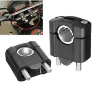 "2Pz CNC Morsetto Monte Riser Manubrio Per 1/8"" 7/8"" 28mm 22mm Manubrio Moto"
