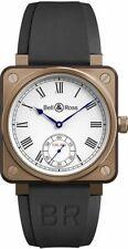 Bell & Ross Instruments BR01-CM-203-SRB Bronze Men's Watch on Black Rubber Strap