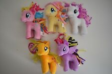 "5 Lot My Little Pony Friendship is Magic 5"" Plush Applejack, Belle, Pinkie Pie"