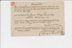 ÖSTERREICH 1819 RECEPISSE aus PRAG. Besonders schön!