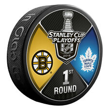 2018 Stanley Cup Playoffs Dueling Puck Boston Bruins / Toronto Maple Leafs