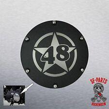 Kupplungsdeckel Derby Cover schwarz Wrinkle für Harley Davidson Sportster 48