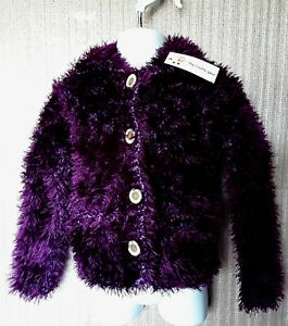CHILD'S FUNKY FUR WINTER JACKET WITH COLLAR AND POCKETS TO FIT AGE 2-3 YRS