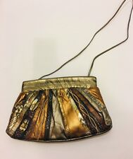 Handbag Gold Bronze Leather SAMIR - GORGEOUS VINTAGE BOHO CHIC