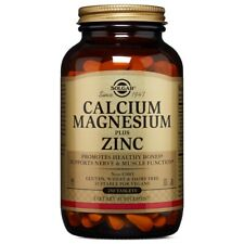 Solgar Calcium Magnesium Plus Zinc 250 Tablets FREE Shipping Made in USA FRESH