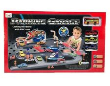 Kids Garage & Parking Playset Toy 4 Metal Cars Boys Vehicles Car Wash Sturdy New