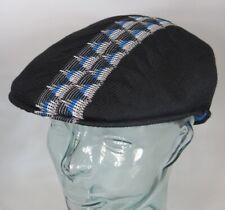 KANGOL Argyle STRIPE 504 Flatcap Ivy Cap Sommermütze Golfcap Mütze schwarz NEU