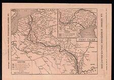 WWI Map Carte Nord Est France Belgique Italia Italy Italie 1919 ILLUSTRATION