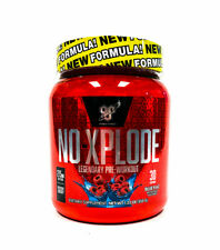 BSN N.O.-XPLODE Pre-Workout Energy Pump 30 Servings NEW FORMULA - BLUE RASPBERRY