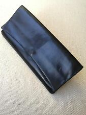 DELVAUX Vintage Black Leather Flap Clutch