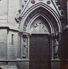 Exeter College Doorway (Oxford??), England, Magic Lantern Glass Slide