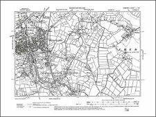 Bridgwater, Chedzoy, old map Somerset 1905: 50SE repro