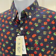 NEW wTag-🎁🎄PENGUIN Blue Holiday Gifts Poplin Shirt Sz S or M