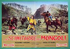 T42 FOTOBUSTA SAGA VAGABONDS SCIMITARRE DEI MONGOLI TOSHIRO MIFUNE SUGIE TOHO 2