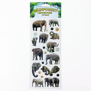 Fun Stickers Childrens Party Bag Kids Fillers Rainforest - 28 Designs