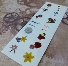 Fusible Art Décalque Floral, fusework, decals for Use in Micro-ondes four