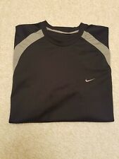 Nike L Short Sleeve Athletic Two Tone Shirt, Embroidered Swoosh As-Is