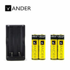 4PCS 6000mAh 18650 Batteries 3.7v li-ion Rechargeable Battery + Double Charger
