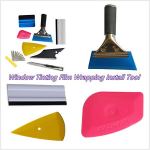 8Pcs Professional Squeegee Car Tinting Film Wrapping Install Applicator Kit