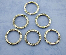 100PCs Silver Bali Ring Connectors 14mm