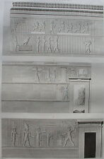 DESCRIPTION DE L'EGYPTE, 1809,  ILE DE PHILAE,BAS RELIEFS EDIFICE OUEST