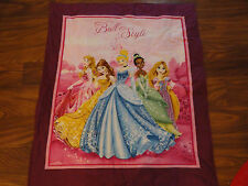 Handmade/ Homemade Baby Quilts-  My Ball My Style Disney Princesses