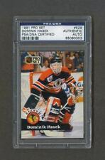 Dominik Hasek signed Blackhawks 1991 Pro Set Hockey card Psa