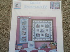 "Sale 40% Off Linda Myers X-stitch KIT-Quilt Sampler IV-Log ""Cabin Fever"" Blocks"
