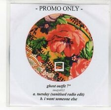"""(DN85) Ghost Outfit 7"""", Tuesday / I Want Someone Else - DJ CD"""