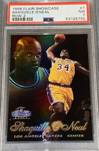 1998 Flair Showcase SHAQUILLE O'NEAL Row 2 #7 PSA Hall of Fame Lakers Rare